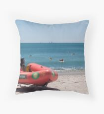 surf lifesaving boat Throw Pillow