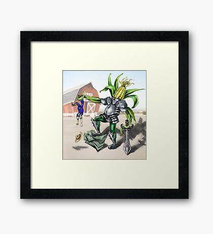 Corn the Conqueror Framed Print