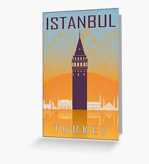 Istanbul vintage poster Greeting Card