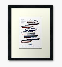 The Fairey Powerboats Framed Print