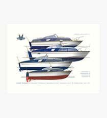 The Fairey hot moulded powerboats Art Print