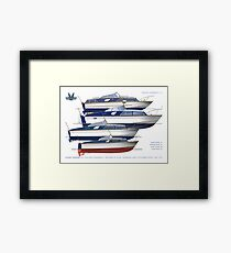 The Fairey hot moulded powerboats Framed Print
