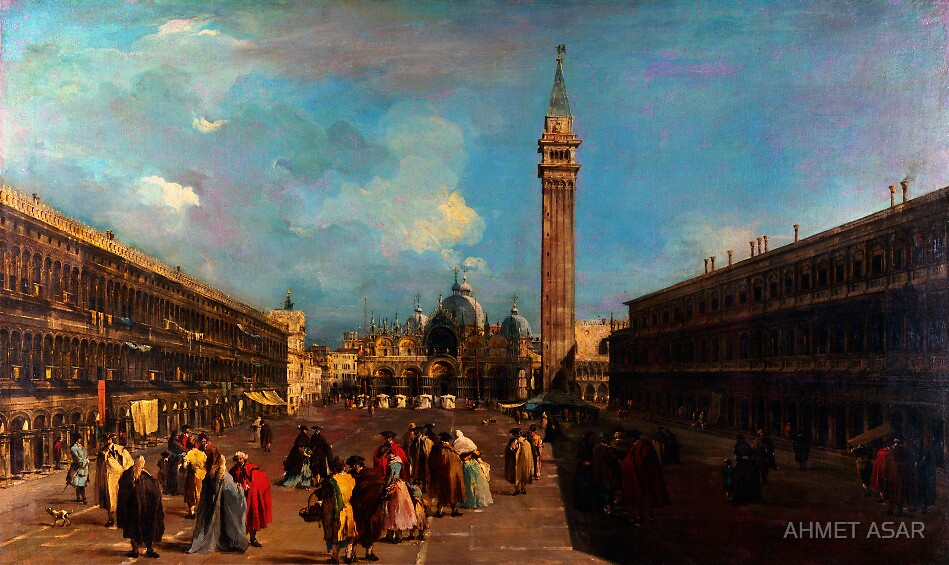 Francesco Guardi    Venice Piazza San Marco by MotionAge Media
