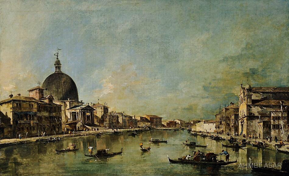 Francesco Guardi  The Grand Canal with San Simeone Piccolo and Santa Lucia by MotionAge Media