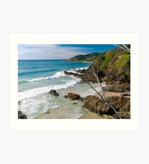 Secluded beach at Byron Bay Art Print