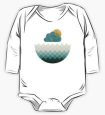 Meeresorigami Baby Body Langarm