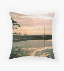 Last light on the Esplanade Throw Pillow