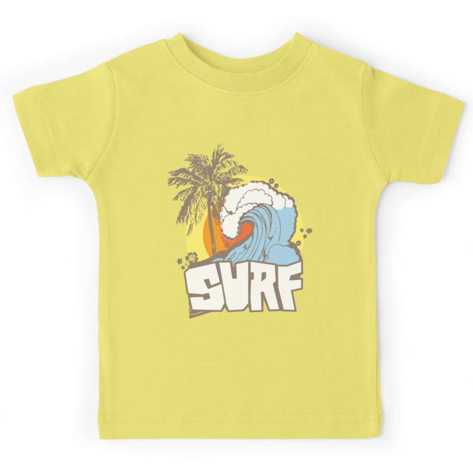 Design t shirt kid - Retro Surf T Shirt Design By Keepers