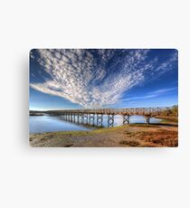 Quinta do Lago The Wooden Bridge Canvas Print