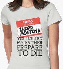 Inigo's Name Tag Womens Fitted T-Shirt