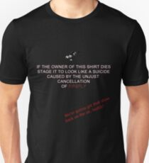 Firefly&Community: we'll bring the show back! - black version T-Shirt