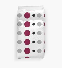 Maroon Black and Silver Polka Dot Duvet Cover