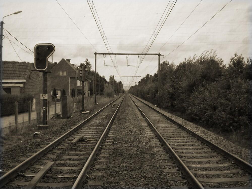Along the railroad by Drewlar