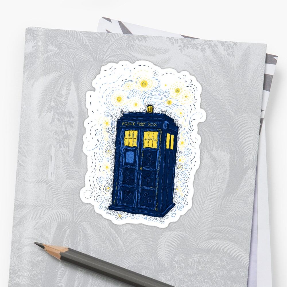Space Time Impressionism Stickers By Frederickjay Redbubble