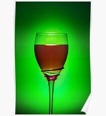 Full Wine Glass - Green Poster