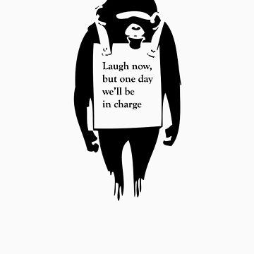 Laugh Now Chimp by olsharpe