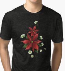 Poinsettia Tri-blend T-Shirt