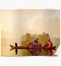 George Caleb Bingham Fur Traders Descending the Missouri WGA2205 Poster