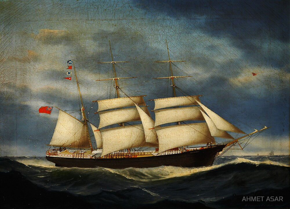 Heinrich Andreas Sophus Petersen The barque Annie Burrill by MotionAge Media