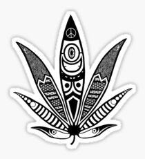 white psychedelic ganja  Sticker
