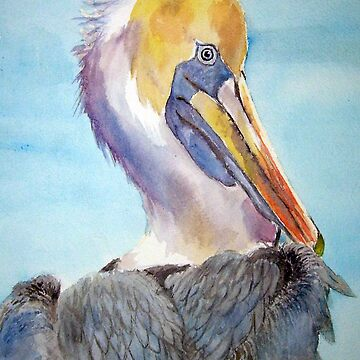 A Pelican's Portrait by Annartiste