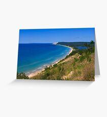 Sleeping Bear Dunes from Empire Bluff Greeting Card
