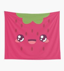 Red Strawberry Wall Tapestry