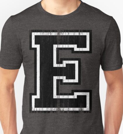 Big Varsity Letter E T-Shirt