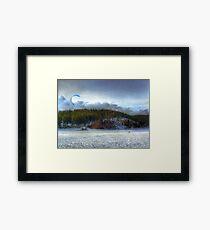 The Kite Boarder Framed Print