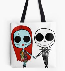 Jack and Sandy - The Nightmare Before Christmas Tote Bag
