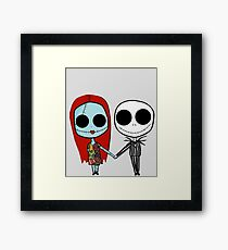 Jack and Sandy - The Nightmare Before Christmas Framed Print