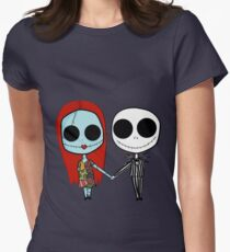 Jack and Sandy - The Nightmare Before Christmas Women's Fitted T-Shirt