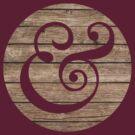 Wooden Ampersand by laurenschroer