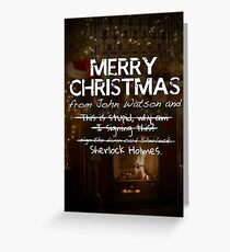 Merry Christmas from John Watson and Sherlock Holmes! Greeting Card