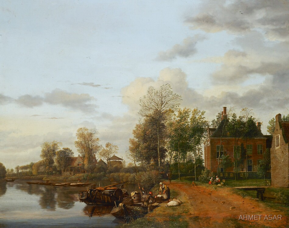Jan van der Heyden  A country house on the Vliet near Delft (c. 1660) by MotionAge Media