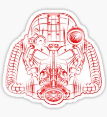 Power Wireframe Red Sticker