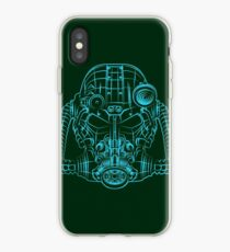 Power Wireframe Blue iPhone Case