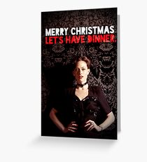 Let's Have Christmas Dinner Greeting Card