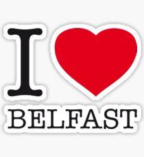 I ♥ BELFAST Sticker
