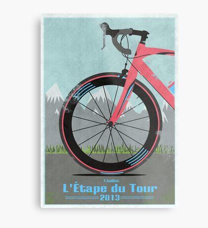 L'Étape du Tour Bike Metal Print