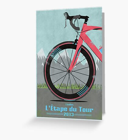 L'Étape du Tour Bike Greeting Card