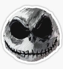 Jack Skellington Face 2 - The Nightmare Before Christmas Sticker