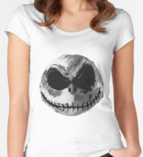 Jack Skellington Face 2 - The Nightmare Before Christmas Women's Fitted Scoop T-Shirt