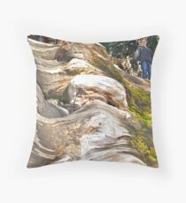Wavy Redwoods Throw Pillow