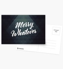 Merry Whatever Lettering Postcards
