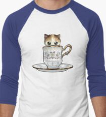 Kitten in a Tea Cup, original colors Calico Kitten floral vines T-Shirt