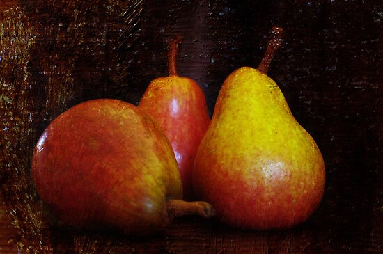 I do like a nice ripe pear by Clare Colins