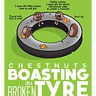 Chestnuts Boasting on a Broken Tyre by DocHackenbush