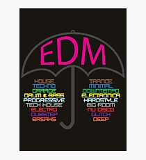 Electronic Dance Music (black) Photographic Print