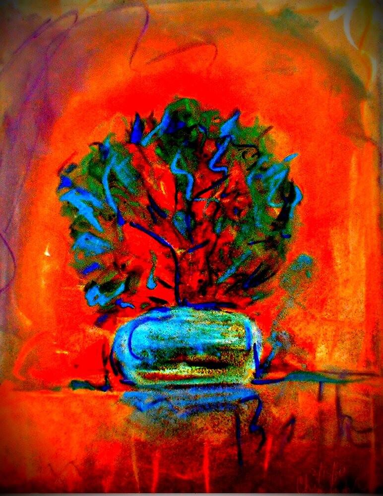 """Beth's Flowers 2 - Digital""  by njchip123"